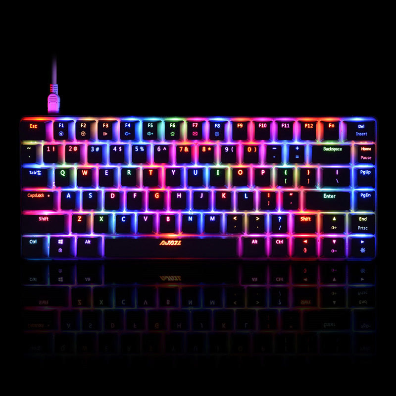 Ajazz/黑爵AK33蓝牙RGB有线青轴黑轴82键笔记本小键盘吃鸡lol