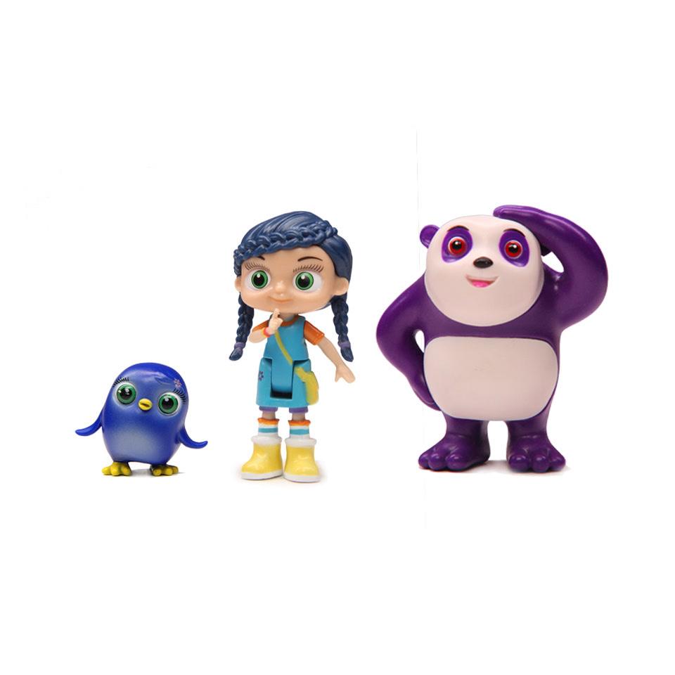 Wissper/神童小语 熊猫组合场景玩具手办人偶